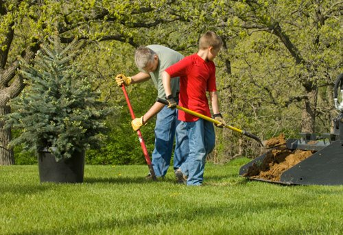 Planting Trees for Arbor Day