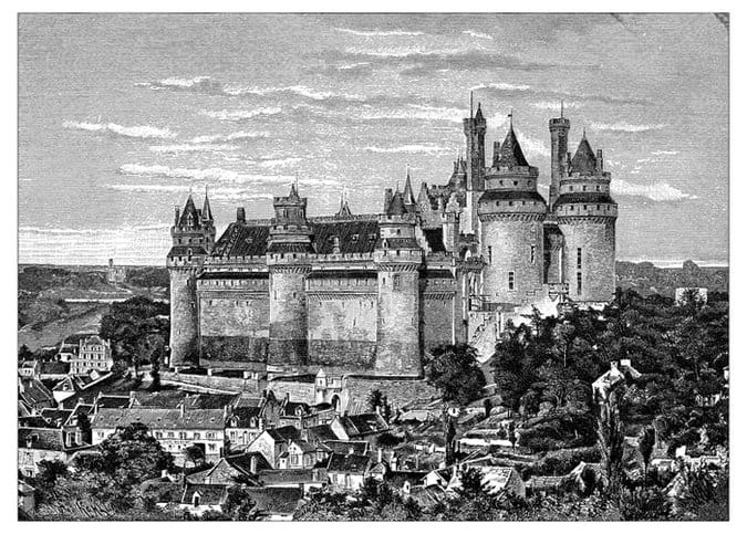 Drawing of Medieval France, with quicklime as a weapon