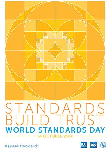 World Standards Day 2016 flyer by ISO was themed around the golden ratio.