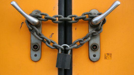 Locked Doors Security Barricade Life Safety Hazard