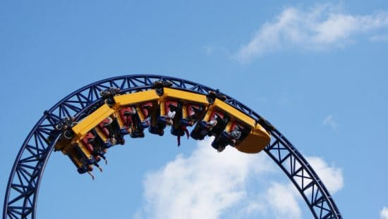 Roller coaster that was designed by following ASTM F2291-20.