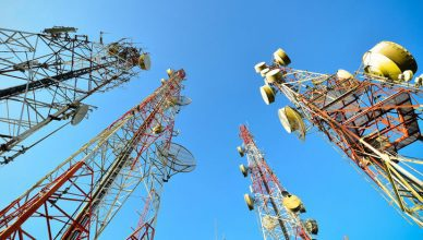 Electromagnetic interference being measured to IEEE/ANSI C63.2-2016 in large cell towers.