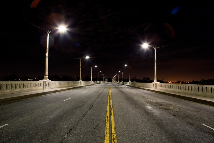Street lit with lighting that is specified in IES G-1-16