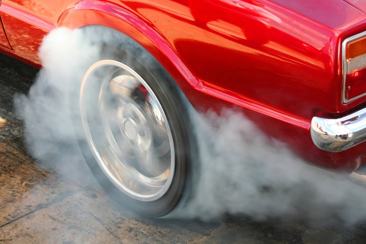 Vulcanized Rubber Tire Fire
