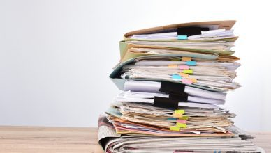 Stack of papers that conform to ANSI A ISO A4
