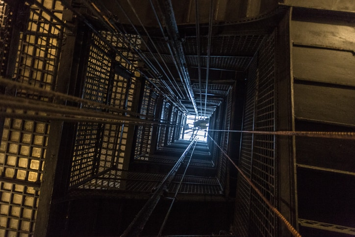 Existing, old elevator shaft needs repairs with code