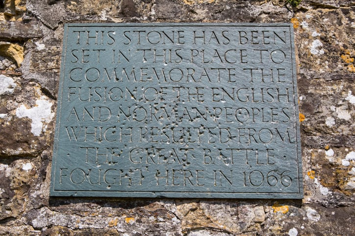 Stone representing the Normans and their British Imperial System