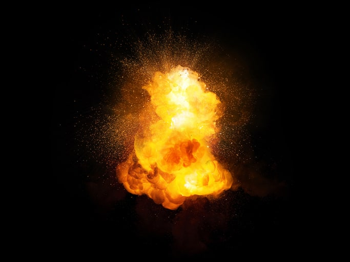 Static electricity that ignites as an explosion that follows NFPA 77 2019