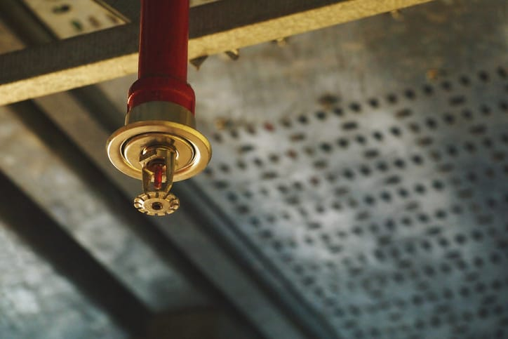Red bright sprinkler installed with the help of NFPA 13R-2019.