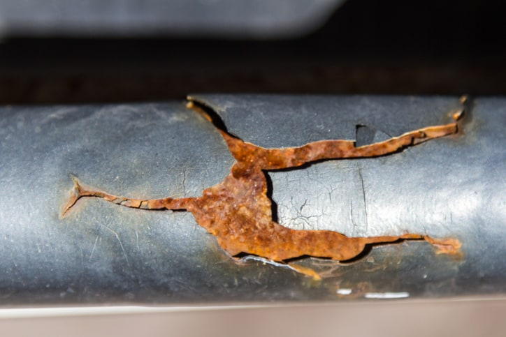 Corrosion forming in pipe that should be treated