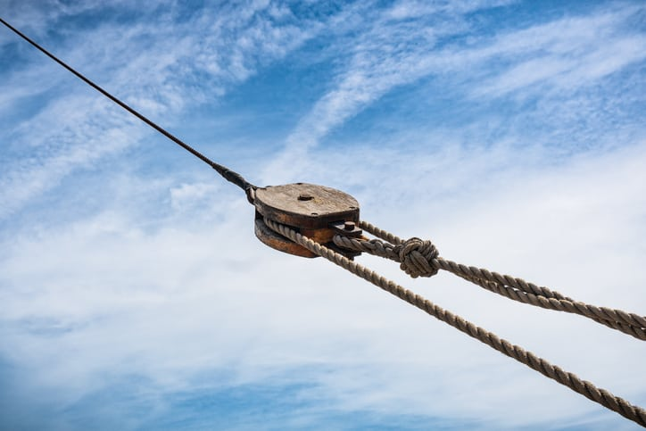 Wooden Pulley Lifting Device History