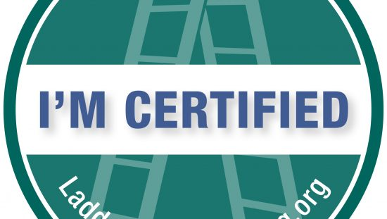 Ladder Safety Ambassador ALI Training Certified Graphic