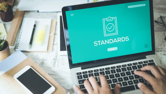 How to Get Involved w/ Standards Development, Standards on laptop screen