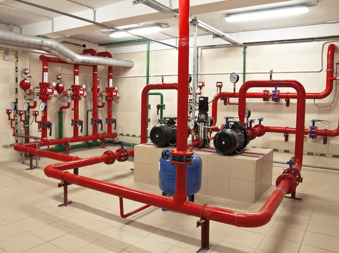 Pipes for a water-based fire protection system that follows NFPA 25-2020