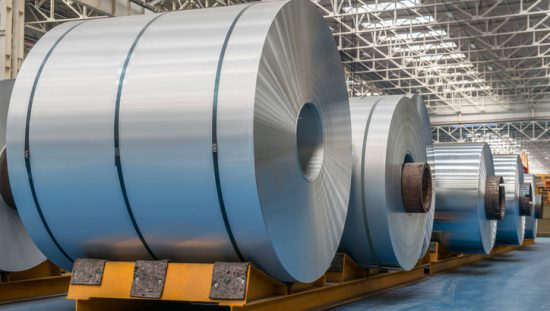 Rolls of metal which have ASTM E18-20 rockwell hardness
