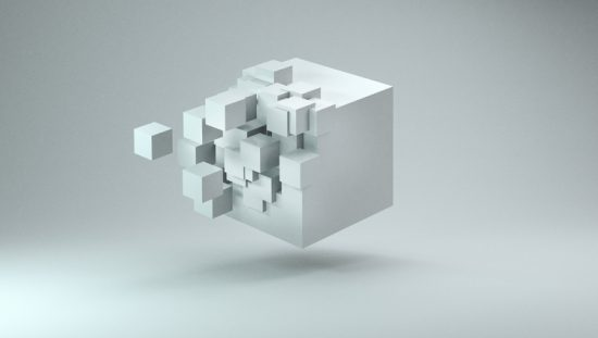 Small white blocks fit into cube like documented information with ISO 10013:2021 fits into quality management system.