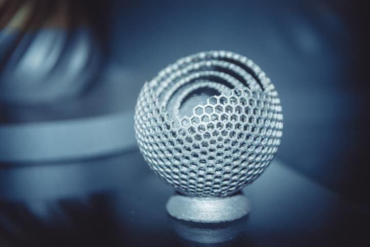 Metal honeycomb object additive manufactured to ISO/ASTM 52915 specifications.